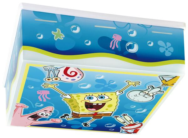 spongebob schwammkopf deckenlampe 75506 sponge bob. Black Bedroom Furniture Sets. Home Design Ideas