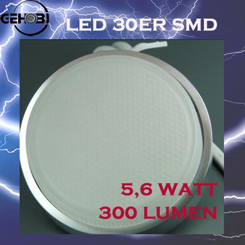 30er smd led gx53 5516 0 chrom matt 42mm einbautiefe set for Deckenleuchte led mehrflammig