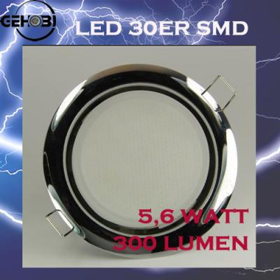 30er smd led gx53 4414 4 chrom 55mm einbautiefe set einbaustrahler einbauleuchte ebay. Black Bedroom Furniture Sets. Home Design Ideas