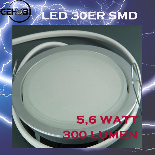 30er smd led gx53 5512 9 chrom matt 30mm einbautiefe set for Deckenleuchte led mehrflammig
