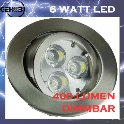 X mal led einbaustrahler set 4037 5 m 3x2 watt leds for Deckenleuchte led mehrflammig