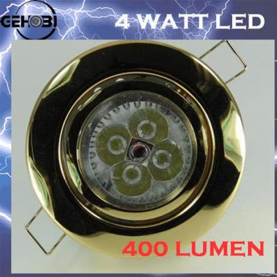 4 power 400 lumen led decken einbaustrahler set h23353 gu10 einbaustrahler 230v ebay. Black Bedroom Furniture Sets. Home Design Ideas