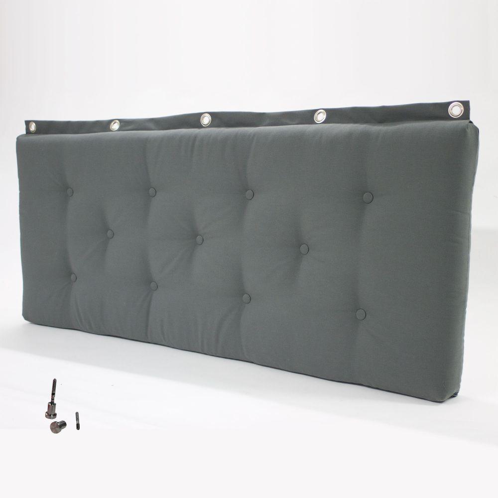 bettkopfteil betthaupt wandkissen wandpolster auf ma mit optional wandkn pfe ebay. Black Bedroom Furniture Sets. Home Design Ideas