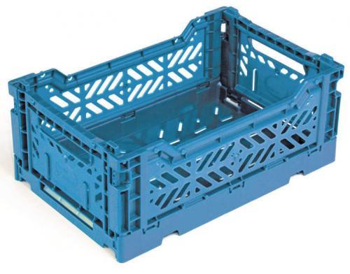 Klappbox-Mini-26-6-x-17-1-x-10-5-cm-blau-Stapelkiste-Transportbox