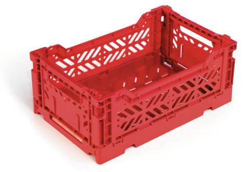 Klappbox-5-Stk-Mini-26-6-x-17-1-x-10-5-cm-rot-Stapelkiste-Transportbox