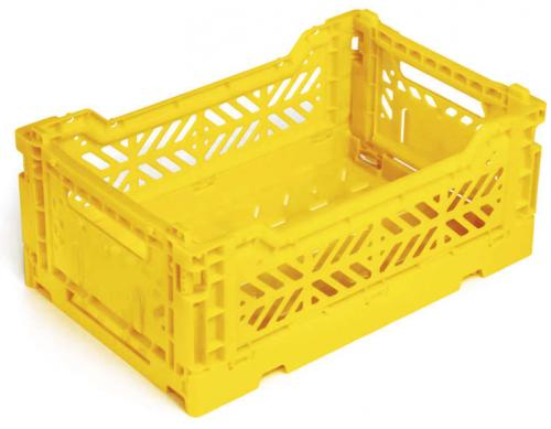 Klappbox-10-Stk-Mini-26-6-x-17-1-x-10-5-cm-gelb-Stapelkiste-Transportbox