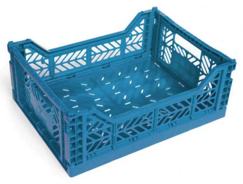 Klappbox-Midi-blau-Stapelkiste-Transportbox-40x30x14-5-cm