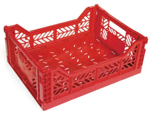 Klapp-Box-Midi-rot-Stapelkiste-Transportbox-40x30x14-5-cm