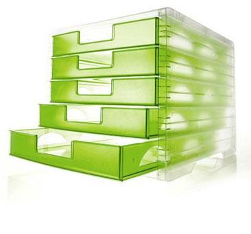 ablagesysteme lightbox gr n transparent ablagebox. Black Bedroom Furniture Sets. Home Design Ideas