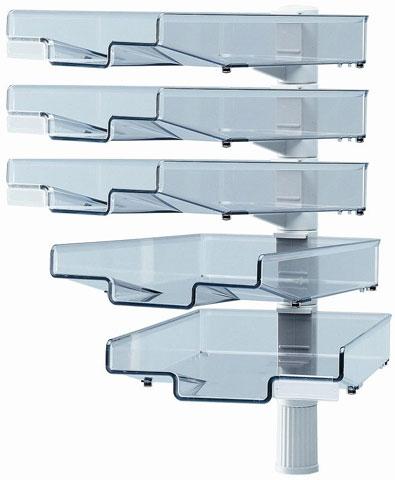 schwenkfl gler grau 5 schalen schwenkarm ablagefach. Black Bedroom Furniture Sets. Home Design Ideas