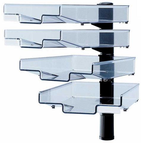 schwenkfl gler schwarz 4 schalen schwenkarm ablagefach papierablage ebay. Black Bedroom Furniture Sets. Home Design Ideas