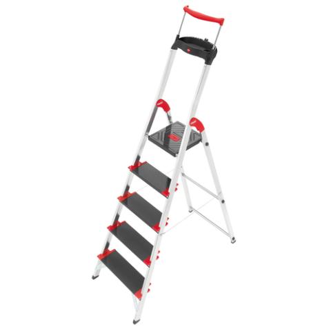 aluleiter leitern 4007126889508 trittleiter tritt 5 stufen leiter 8895 001 hailo ebay. Black Bedroom Furniture Sets. Home Design Ideas