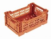 Klappbox 5 Stk. Mini 26,6x17,1x10,5 cm orange Stapelkiste Transportbox