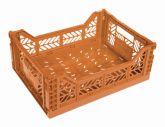 Klapp Box Midi orange Stapelkiste Transportbox