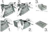 Klappbox 10 Stk. Mini 26,6x17,1x10,5 cm weiss Stapelkiste Transportbox
