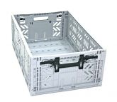 Klappbox 5 Stk. Maxi grau 22cm massiv Stapelkiste Transportkiste