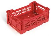 Klappbox 10 Stk. Mini 26,6 x 17,1 x 10,5 cm rot Stapelkiste Transportbox
