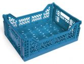 Klappbox Midi blau Stapelkiste Transportbox 40x30x14,5 cm
