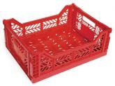 Klapp Box Midi rot Stapelkiste Transportbox 40x30x14,5 cm