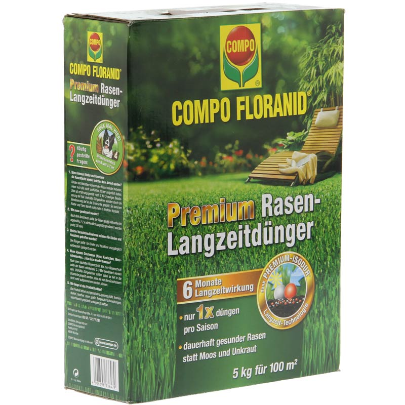 compo floranid premium rasen langzeitd nger 5 kg schachtel ebay. Black Bedroom Furniture Sets. Home Design Ideas