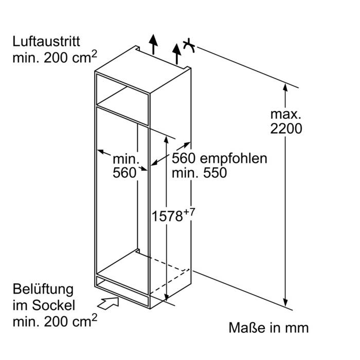 kiv28a51 bosch einbau k hl gefrierkombination a 158er nische. Black Bedroom Furniture Sets. Home Design Ideas