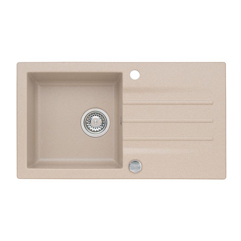 Granitspüle Etienne 111 Spüle Küchenspüle Einbauspüle  ~ Spülbecken Beige