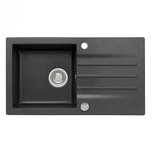 einbau granitsp le mojito 40 schwarz f r 45er u schrank k chensp le sp lbecken ebay. Black Bedroom Furniture Sets. Home Design Ideas