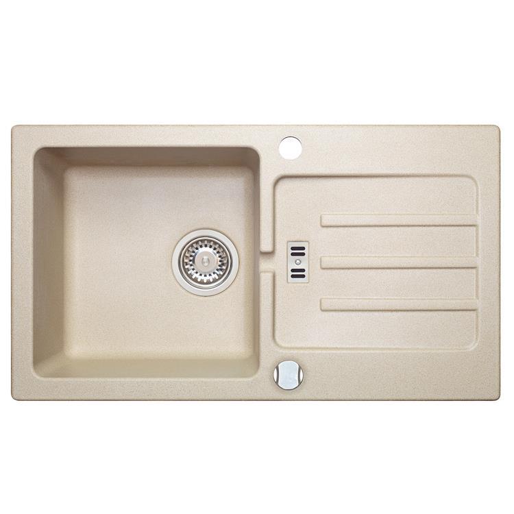 einbau granitsp le malibu 40 beige f r 45er u schrank. Black Bedroom Furniture Sets. Home Design Ideas