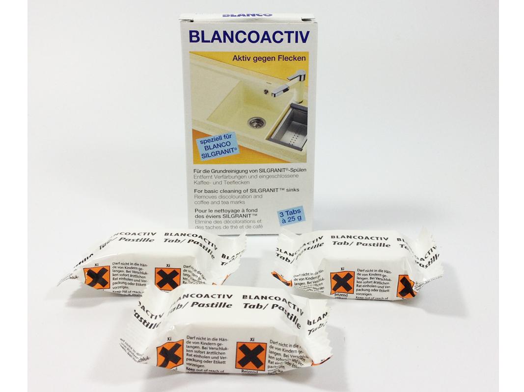 blanco activ tabs pflege f r granitsp len gegen flecken sp lenpflege ebay. Black Bedroom Furniture Sets. Home Design Ideas