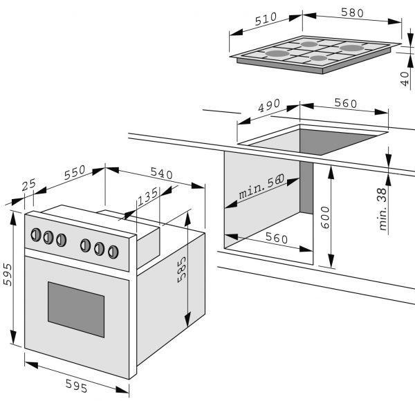 eheg 12421 e herd set amica gas eheg 12219 neu ebay. Black Bedroom Furniture Sets. Home Design Ideas