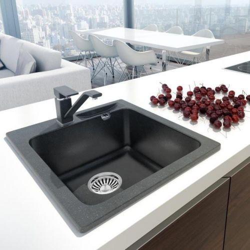 set granitsp le malibu 20 armatur tori hd k chensp le sp lbecken sp le ebay. Black Bedroom Furniture Sets. Home Design Ideas
