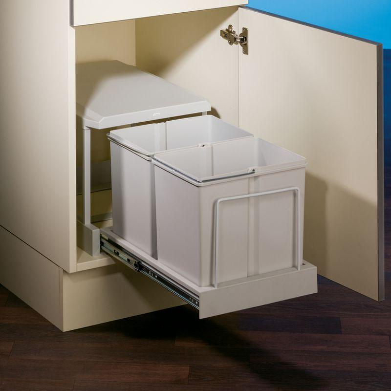 2 fach m lltrennsystem abfallsammler clax 2 450 2 30 liter grau m lleimer k che ebay. Black Bedroom Furniture Sets. Home Design Ideas