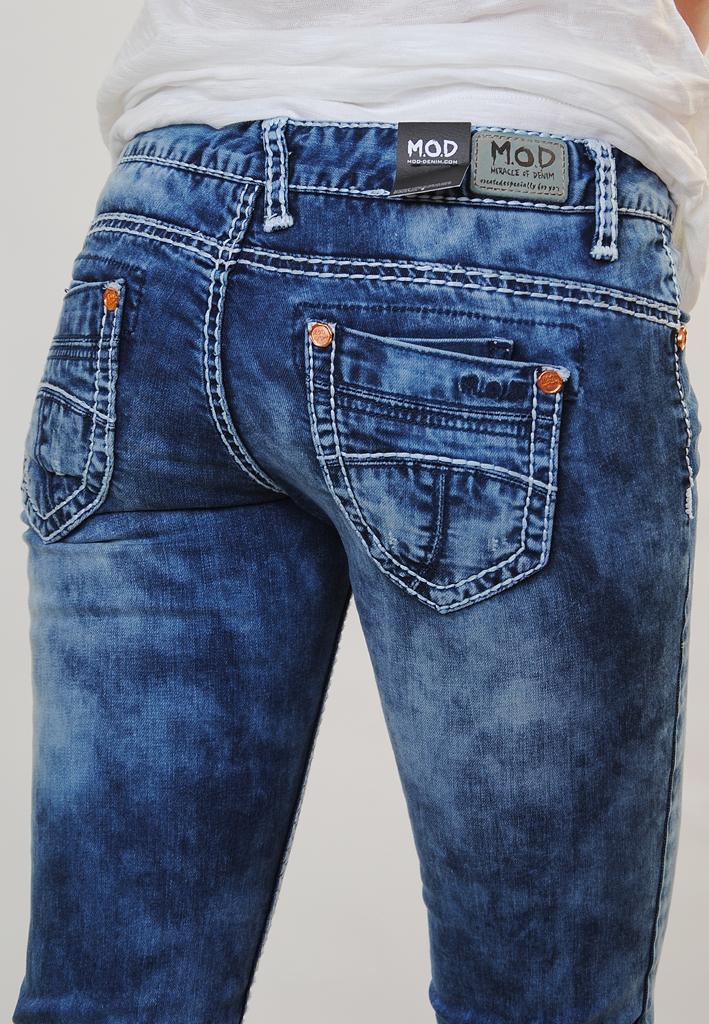 m o d damen straight fit jeans blau 27 32. Black Bedroom Furniture Sets. Home Design Ideas