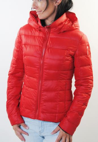 bomboogie damen winterjacke steppjack daunenjacke rot ebay. Black Bedroom Furniture Sets. Home Design Ideas