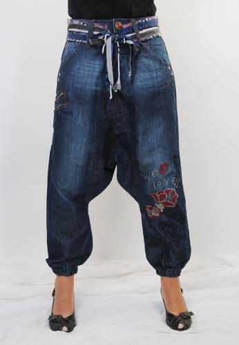 desigual damen jeans haremsjeans turko cinturon ebay. Black Bedroom Furniture Sets. Home Design Ideas