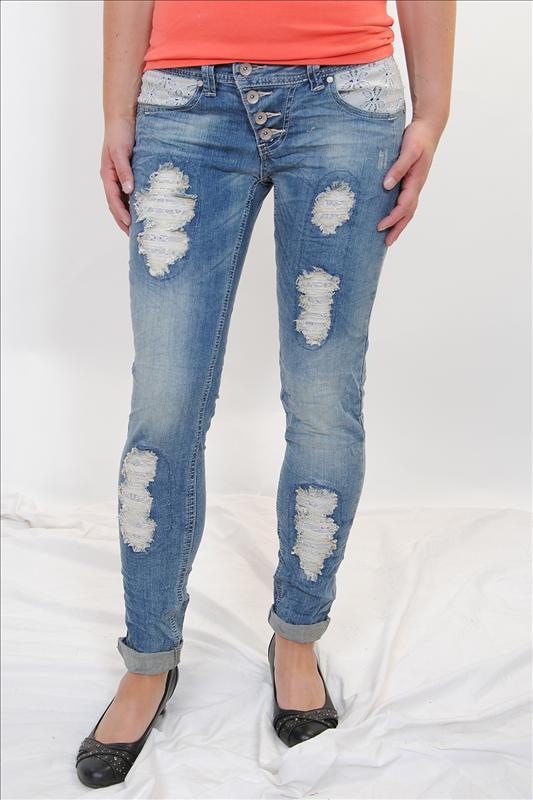 buena vista damen jeans destroyedjeans malibu light blue. Black Bedroom Furniture Sets. Home Design Ideas