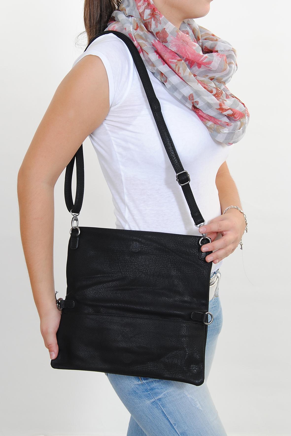 fritzi aus preu en damen handtasche umh ngetasche clutch ronja black berlin ebay. Black Bedroom Furniture Sets. Home Design Ideas
