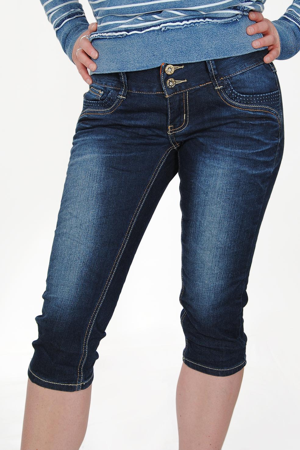 m o d damen capri jeans enni alamo blue ebay. Black Bedroom Furniture Sets. Home Design Ideas