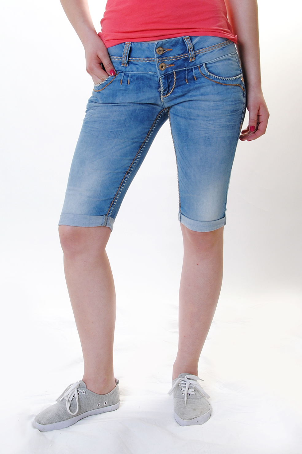 cipo baxx damen capri jeans cbw 0621 ebay. Black Bedroom Furniture Sets. Home Design Ideas