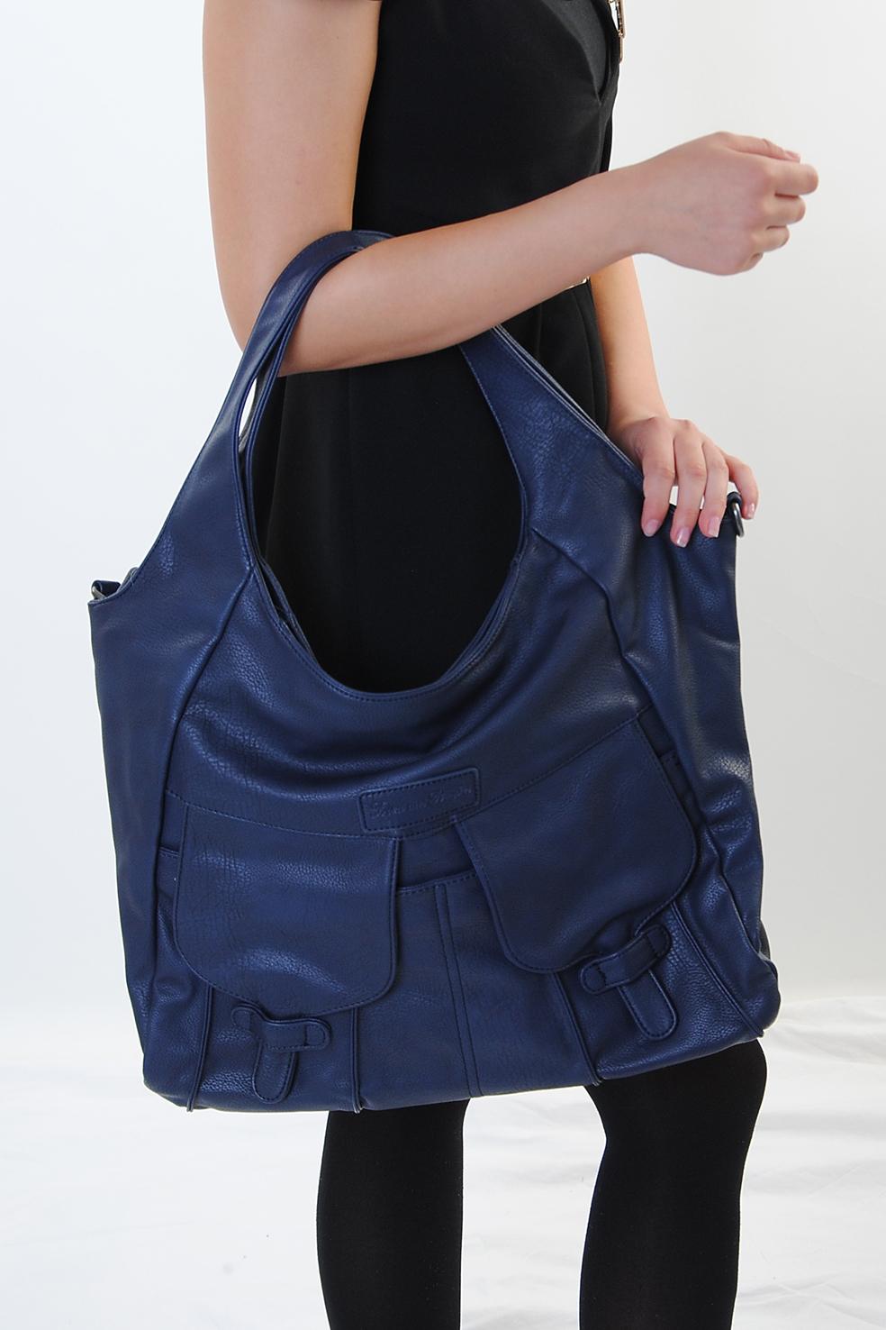 fritzi aus preu en damen handtasche schultertasche shopper jenna saphir ebay. Black Bedroom Furniture Sets. Home Design Ideas