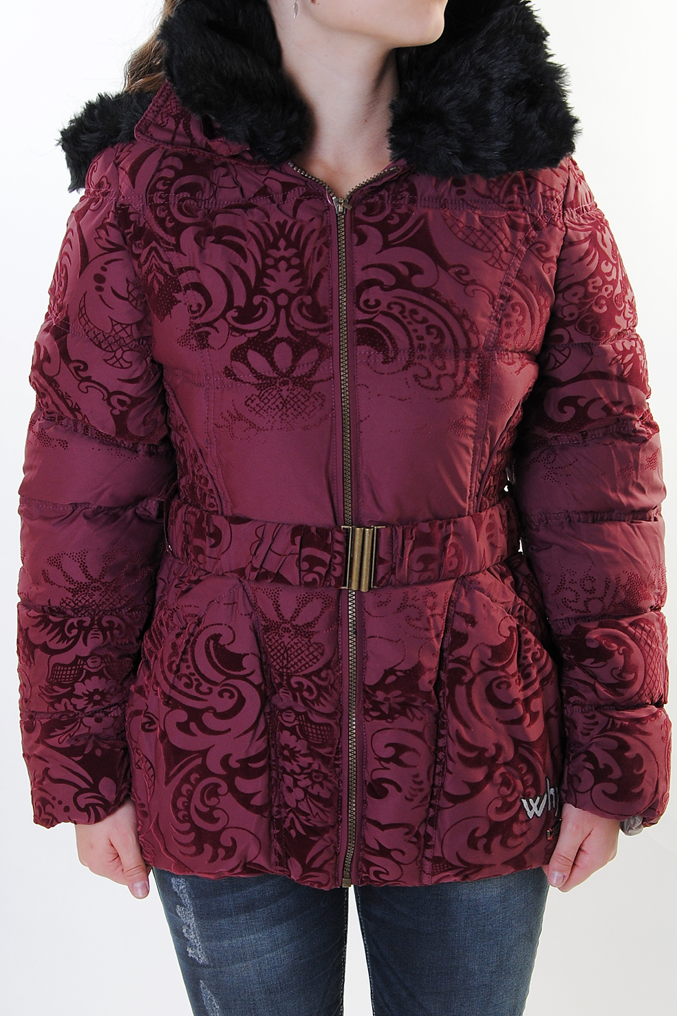 desigual damen winterjacke rocio weinrot 46e2925 3082 ebay. Black Bedroom Furniture Sets. Home Design Ideas