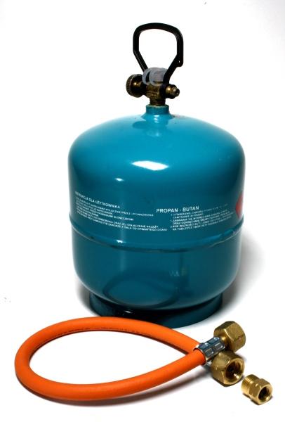 Dachdecker Oranienburg aktionsset leere befüllbare gasflasche propan gas 3kg adapter umfüllschlauch ebay