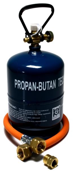 Dachdecker Oranienburg aktionsset leere befüllbare gasflasche propan gas 1 kg adapter umfüllschlauch ebay