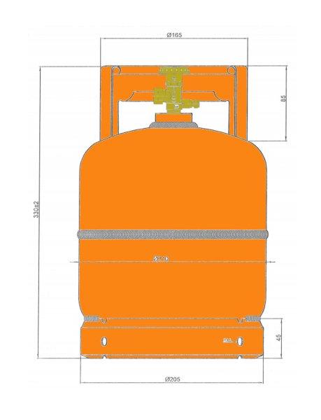 Dachdecker Oranienburg leere orange befüllbare gasflasche 3kg propan butan flasche mit kragen ebay