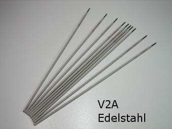 elektroden edelstahl v2a 2 0 mm 10 st ck schwarz wei 307. Black Bedroom Furniture Sets. Home Design Ideas