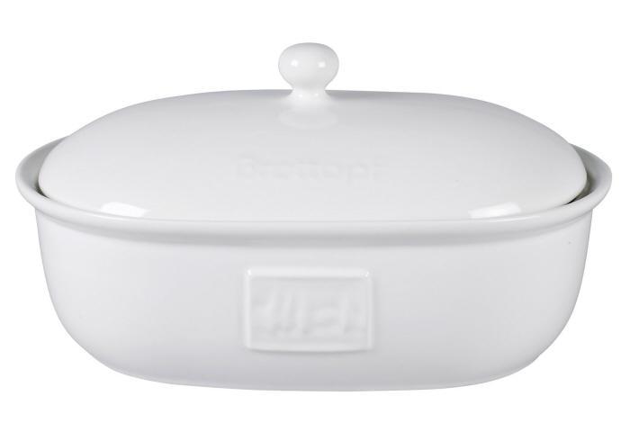 brottopf porzellan 37 5x26 cm brotaufbewahrung in wei aus keramik la cucina ebay. Black Bedroom Furniture Sets. Home Design Ideas