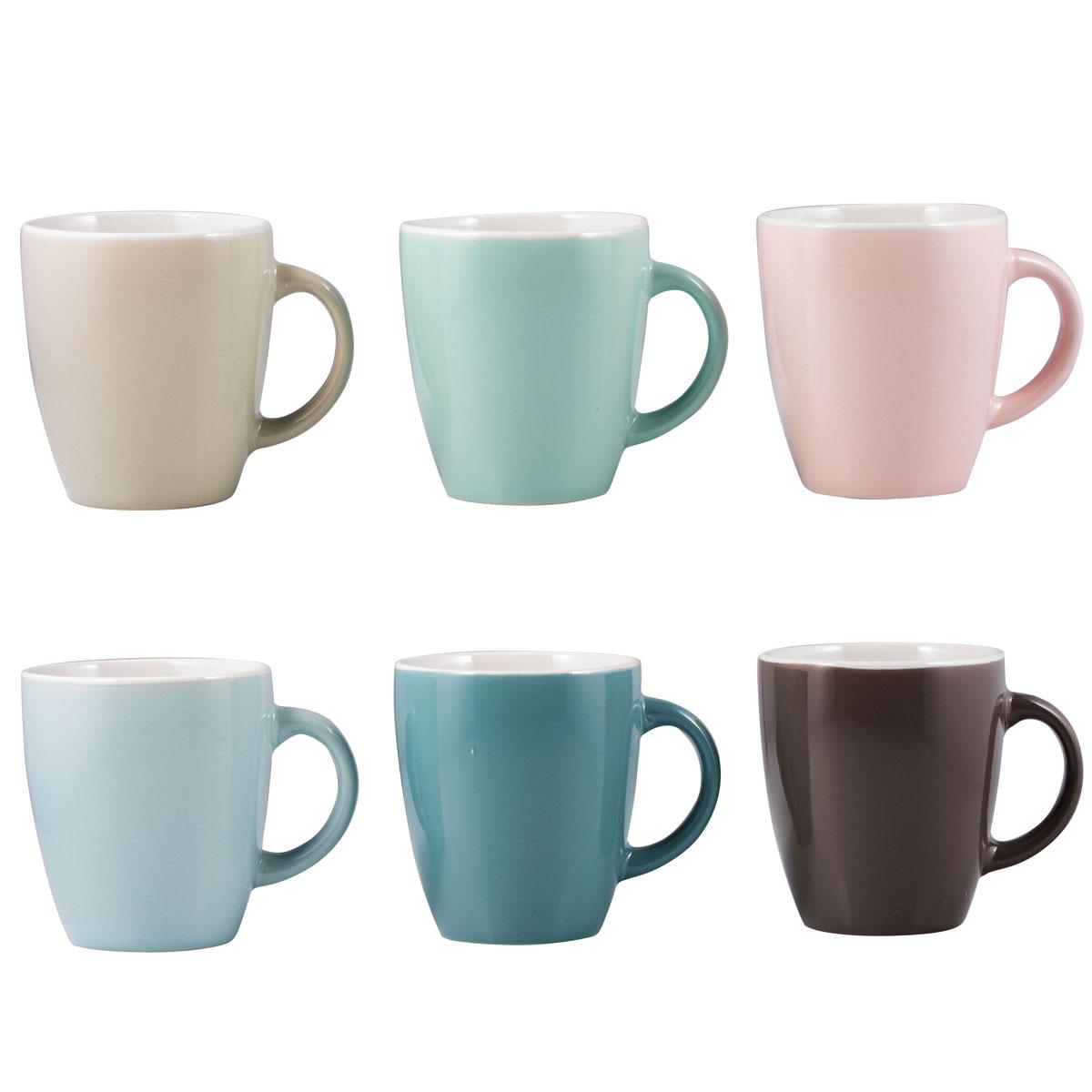 6er set kaffeetassen 170 ml f r kaffeepadmaschinen. Black Bedroom Furniture Sets. Home Design Ideas