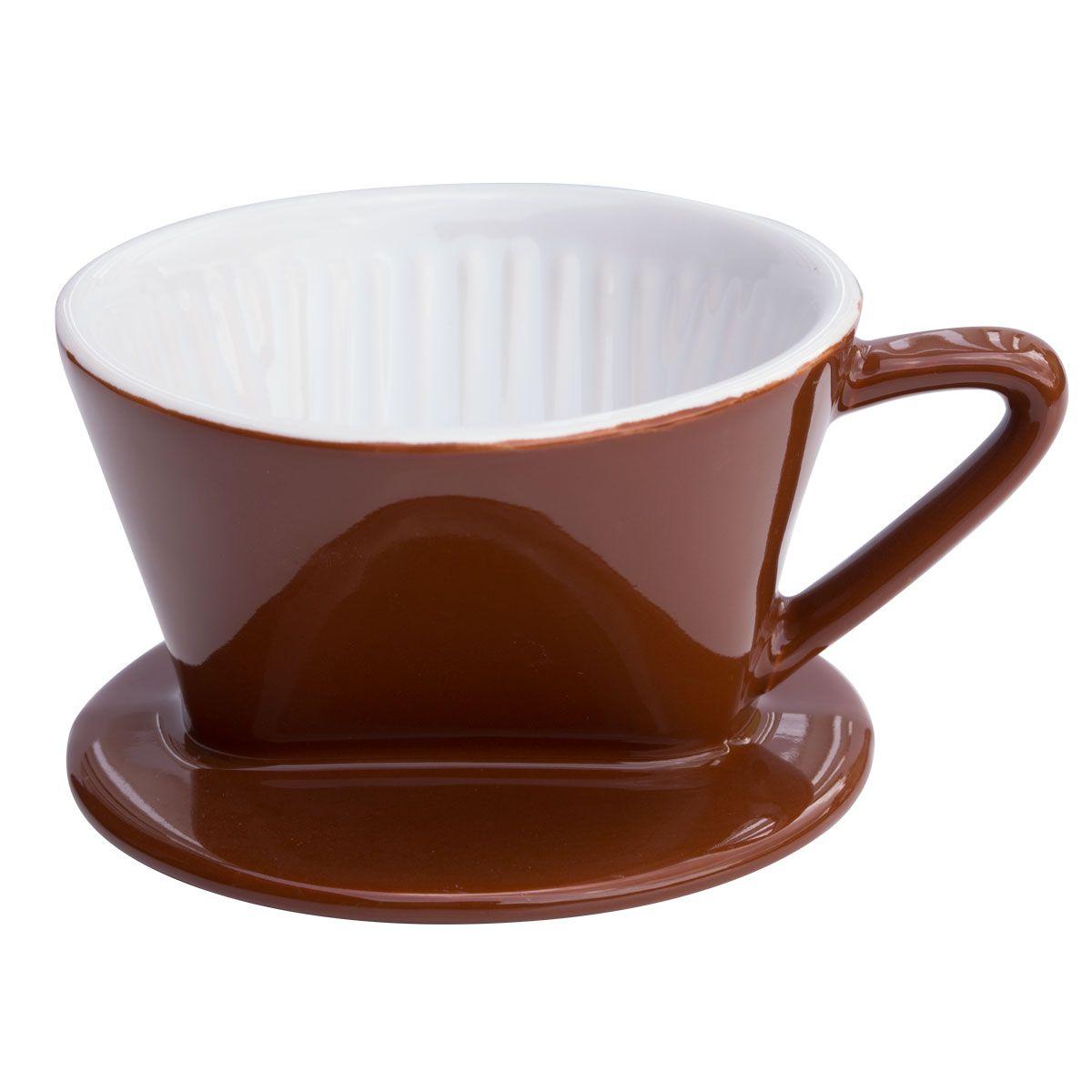 cilio kaffeefilter porzellan gr e 1 marone porzellanfilter kaffeebereiter. Black Bedroom Furniture Sets. Home Design Ideas