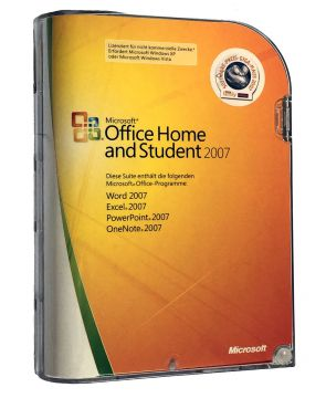 microsoft office home and student 2007 lizenz f r 3 pc ebay. Black Bedroom Furniture Sets. Home Design Ideas