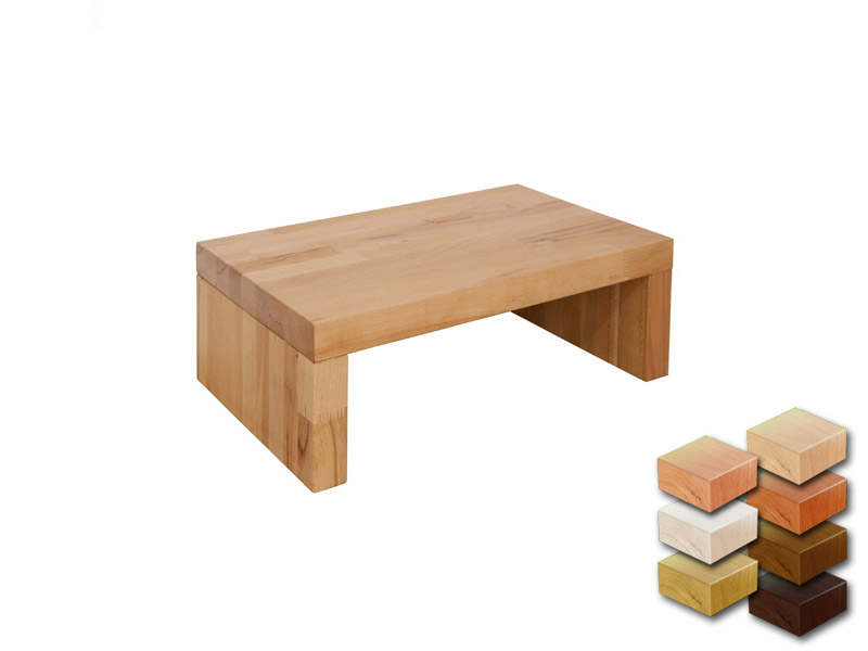 nachttisch massivholz buche farbe nussbaum dunkel 26cm hoch unbehandelt ebay. Black Bedroom Furniture Sets. Home Design Ideas